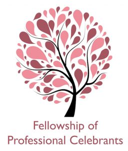 Logo for Fellowship of Professional Celebrants, who Funeral Celebrant, Derren Gello, of Blossom Ceremonies based in Somerset is a proud member of.
